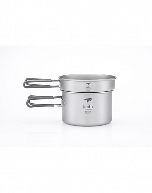 Ti6012 2-Piece Titanium pot and Pan Cook Set